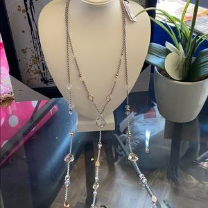 Convertible mixed metal multi role necklace